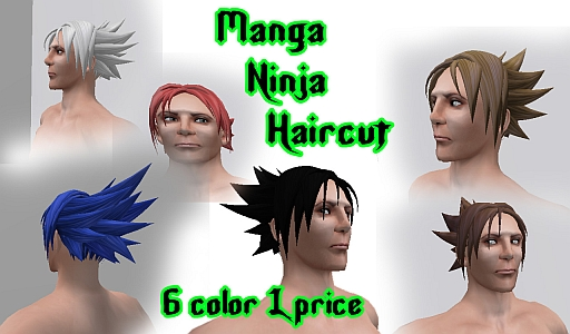 """This cut inspired by the manga offers a lively and aggressive look, which recalls the style ninja. "" Demo L$0"